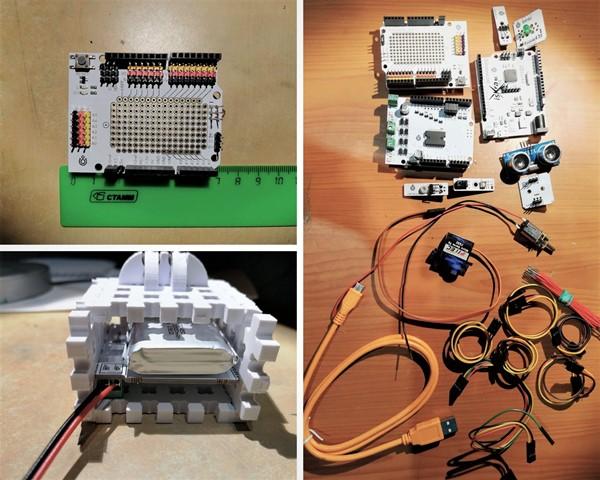 Робоняша - провода, датчики, платы
