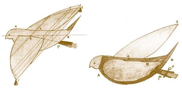 Механический голубь V веке до нашей эры